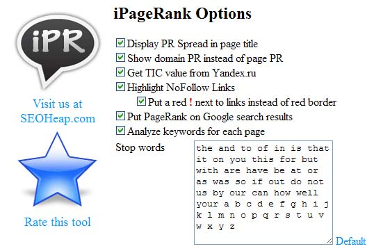 iPageRank | SEO Tool for Chrome
