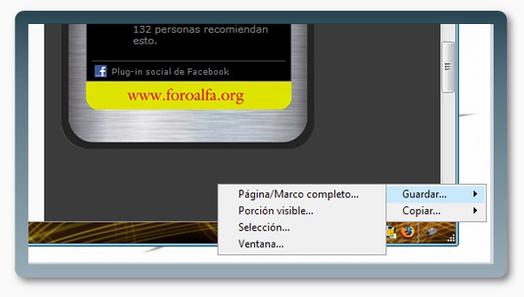 Complemento FireFox Screengrab