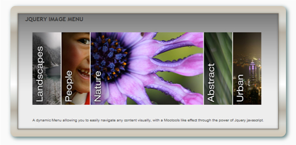 IMAGE MENU WITH JQUERY