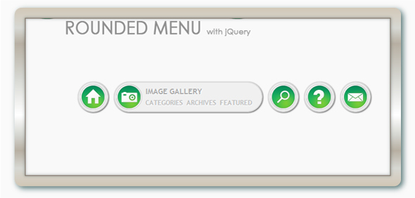 ROUNDED MENU WITH JQUERY