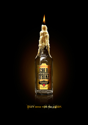 Anuncio Publicitario Goldstrike Don't mess with the legend, Candle